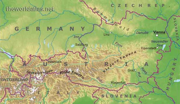 map of germany and austria. Austria Map. About Austria: