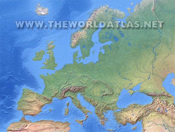 World Map Of Europe