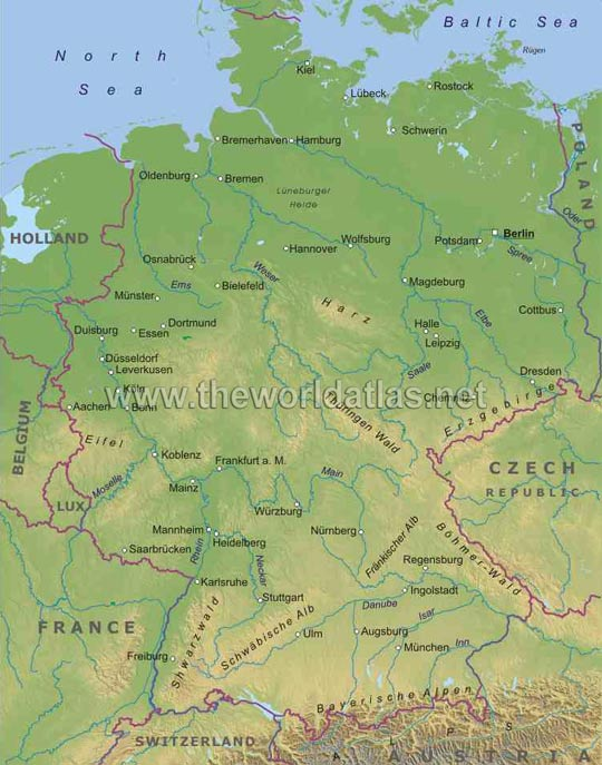 map of france and germany with cities. Germany Map